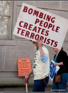 Bombing people creates terrorists
