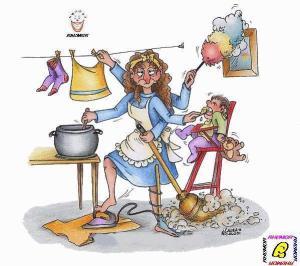 huishoudelijke vrouw