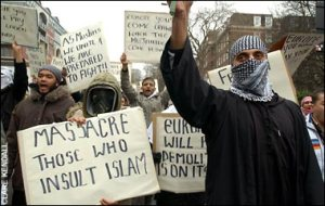 Massacre those who insult islam
