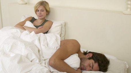 Koppel hebben ruzie in bed