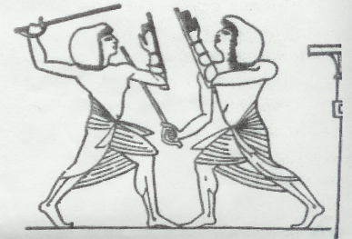 two fighting egyptians