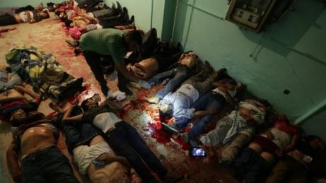 Slachtoffers van het bloedbad in Rabia Al Adawiyaplein